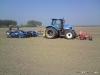 T6020 met frontegalisator, terra compactor en 4.5 m VSS agro sneleg