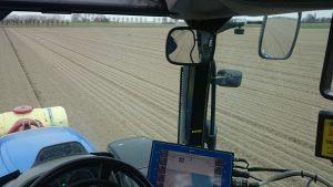 Uien zaaien met RTK-GPS